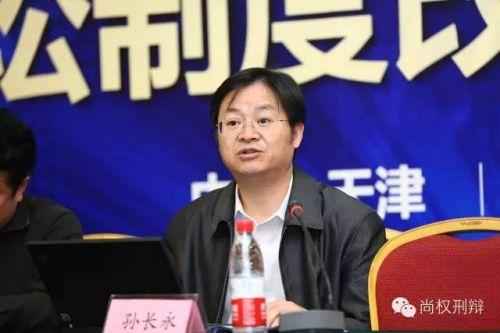 西南政法大学副校长、教授、博士生导师孙长永教授