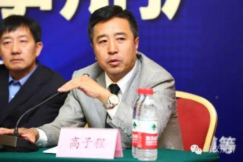北京市律师协会会长高子程